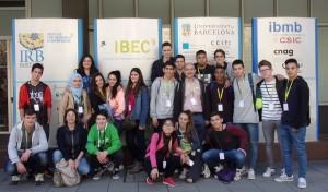 Alumnes durant la visita.