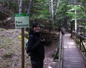Montse López en el parque natural de Aiguestortes. Fotografía cedida por la investigadora.