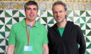 Dr. Artur Llobet i Dr. Pau Gorostiza durant la celebració. Autor: IBEC