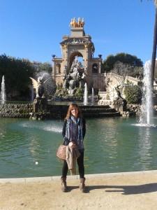 Maria Valls al Parc de la Ciutadella. Fotografía cedida per la investigadora.